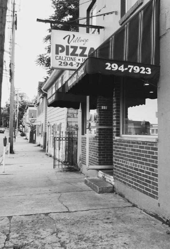 Village Pizza Goshen B&W